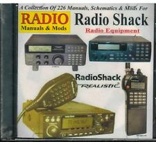 Radio Shack Manuals & Mods Cd - 226 Manuals Schematics for Radio Equipment New