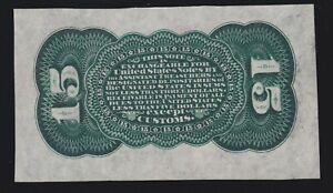 US 15c Fractional Currency Specimen Green Back FR 1272sp Ch CU (12)