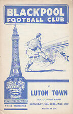 Blackpool Teams A-B Football FA Cup Fixture Programmes