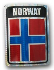 Wholesale Lot 12 Norway Country Flag Reflective Decal Bumper Sticker