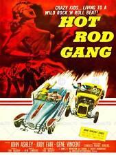 Película Hot Rod Gang Pulp Fiction Loco Niños Coche Carrera GEN impresión de arte poster CC439