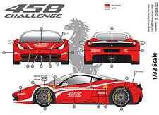 "[FFSMC Productions] Decals 1/32 Ferrari F-458 Challenge ""Présentation"""