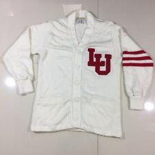 Vintage University of Louisville Cardinals 1960s Letterman Wool Cardigan Sweater