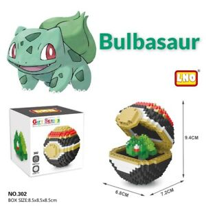Nintendo Pokemon Bulbasaur Pokeball 441pcs Nano Blocks