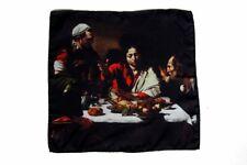 The Wardrobe: Pocket Square Caravaggio 'Supper at Emaus', pure silk