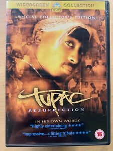 Tupac Resurrection DVD 2pac Shakur 2004 MTV Rap Hip Hop Documentary Movie