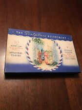 1940s-50s Christmas Cards Original Vintage Box The Scripture Assortment Cool Art