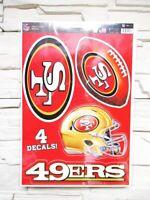 San Francisco 49 ers 4 Aufkleber Decal Badges Set NFL Football Neu