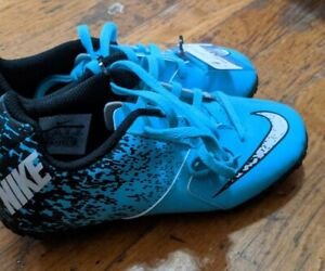 NIKE JR BOMBAX TF Soccer Cleats Blue/White/Black Size 1Y New