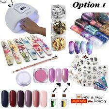 UV Nail Lamp set LED Gel Polish Light Dryer Chrome Manicure Professional Acrylic