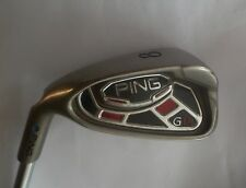 Left Handed Ping G15 Blue Dot 8 IRON   Ping AWT Regular Steel Shaft, Lamkin Grip