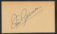 Jim Reeves Autograph Reprint On Old 3x5 Card Country Music