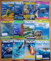 12x Tauchen 2018 Jahrgang Zeitschrift Sport Meere Tiere Urlaub Tauchzeitschrift