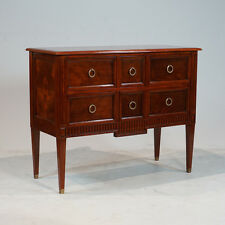 Beautiful Mahogany wood Chest of Drawers Dresser with Brass Hardware
