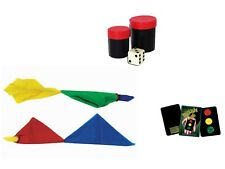 Magic Cube Easy Mind Reading Trick, Color Changing Hanky, Stop Light Card