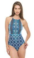 NWT Womens Profile by Gottex Collage High Neck Bathing Swim Suit One Piece Sz 12