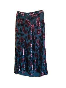 LAURA ASHLEY Floral Print Skirt Women's Silk Viscose -Size UK12 US8 / 76 cm
