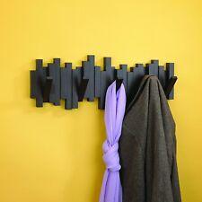Appendiabiti da parete 5appendini Sticks 3colori cameretta ufficio design modern