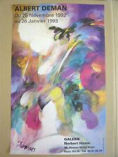 Affiche originale DEMAN Albert 92 Galerie Norbert Hanse Bousbecque art poster