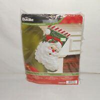 New 2015 Bucilla Jolly St. Nick Sequined Felt Stocking Kit