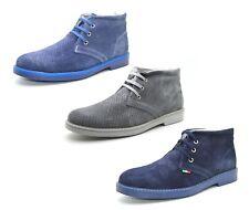 Scarpe uomo estive polacchine scamosciate vera pelle calzature uomo traspiranti