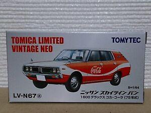Tomytec Tomica Limited Vintage Neo LV-N67a Nissan Skyline Van Coca-cola Rare