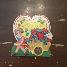 Vintage Loving Thoughts Valentine Card Made in Germany