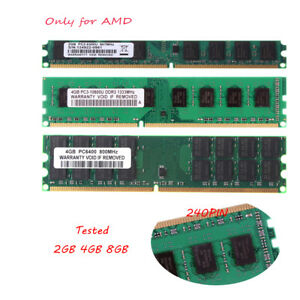 Lot 8GB 4GB 2GB Only for AMD Desktop Memory DDR2/3 800/1333Mhz 240Pin RAM DIMM
