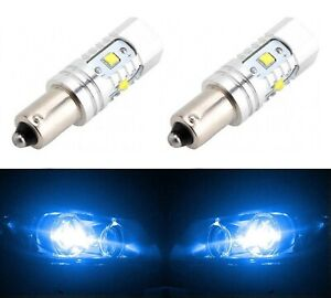 LED Light 30W BAY9s H21W Blue 10000K Two Bulbs Parking Backup Marker Signal