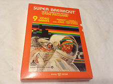 ATARI 2600 7800 GAME SUPER BREAKOUT 1981 *Brand NEW Old Stock in Sealed BOX*