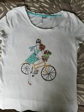 Women's Small ELLE Girl riding bicycle T Shirt