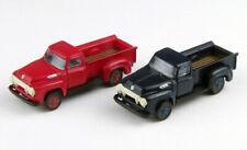 N Mini Metals 50360 1954 Ford F-250 Pickups (Set of 2) - Red & Blue