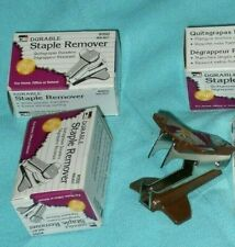 Charles Leonard Lot Of 3 Durable Strong Staple Remover Walnut 050 New In Box