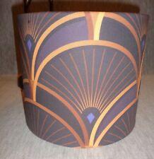"""Art Deco 8"""" Inch Dia. Lamp Shade - Designer Fabric - """"Decor Splendor"""""""
