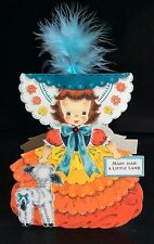 1947 Hallmark Doll Card Land Of Make Believe Series #4, Mary Had a Little Lamb