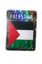 PALESTINE COUNTRY FLAG  METALLIC BUMPER STICKER DECAL .. 4 X 3 INCH