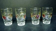 Westmoreland Glass Embossed Fruit Della Robbia Ginger Ale Glasses (set of 4)  *