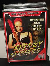 Sleazy Slashers (DVD) Psycho Scarecrow, Dweller, Night Thirst, Blackwoods, NEW!