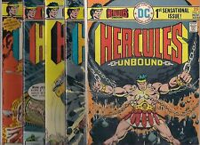 HERCULES UNBOUND #1-#12 SET MISSING ONLY #2 (FN+) 1970'S DC BRONZE AGE SET