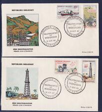 d/ Madagascar enveloppe  2 E   industrialisation  1962