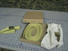 "US military web belt made in USA 44"" khaki color w/buckle LOT OF 12 NEW USGI"