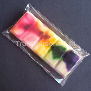 Wax Melt Cello Bags, Fits 6x5, 6x10 Silicone Snap Bar Mould, Self Seal 65x125mm