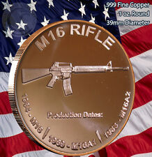 """M-16"" Rifle 1 oz .999 Copper Round"