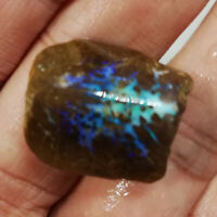Sapphire Blue  17.05CT +VIDEO Australia Queensland Boulder Opal ROUGH / RUB