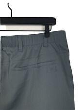 Men's Under Armour Flat Front Grip Flex Waist Gray Golf Shorts Size 40