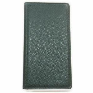 Louis Vuitton Green Taiga Long Wallet Diary Cover Agenda 860975