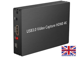 1080P HD 4K 60HZ USB 3.0 HDMI Capture Card Game Converter Mic In Twitch for PS4