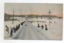 Carte postale SPORTS D'HIVER. Luge The Park Tobogan Slide Montreal. 1909
