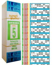 1500 libri gioco di 8 Pagine Strisce di 12 TV Jumbo Bingo biglietti foglio Big Bold Numeri