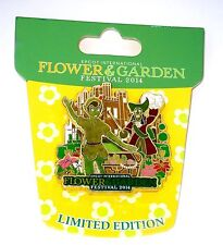 Le Disney Pin✿Epcot Flower Garden Topiary PeterPan Captain Hook Villain Treasure